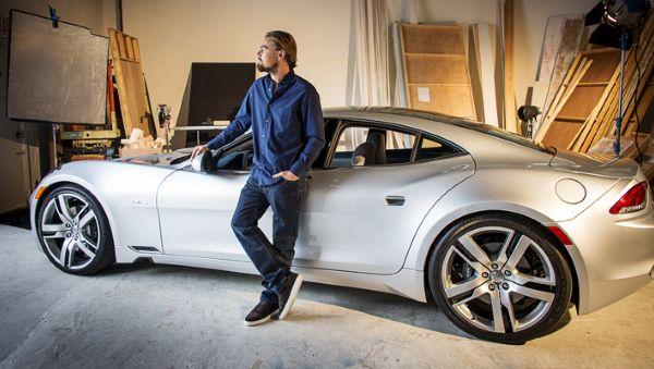 Leonardo Di Caprio Tesla Roadster