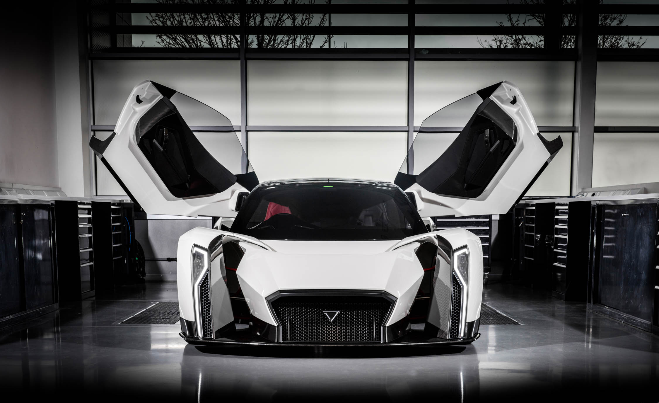 """""""Singapore's First"""" Hypercar Is an EV with Insane Doors, 1500 hp, and an Amazingly Cool Rear Wing"""