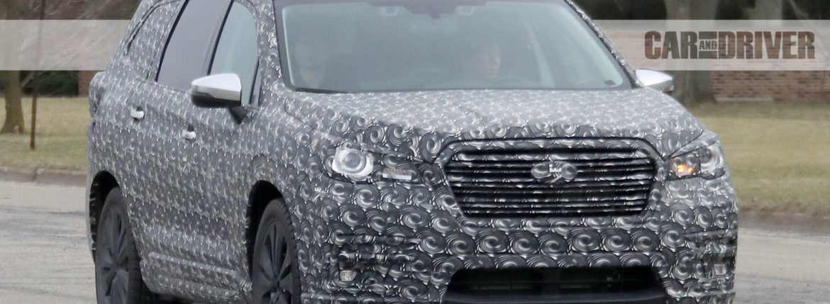 2018 subaru ascent spied.  2018 2018 subaru ascent spied the threerow subie comes into sharper focus   rims and tires mag intended subaru ascent spied e