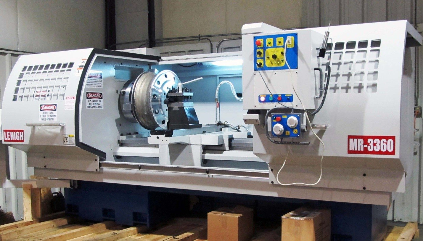 CNC machines form the final shape and application of the desired wheel.