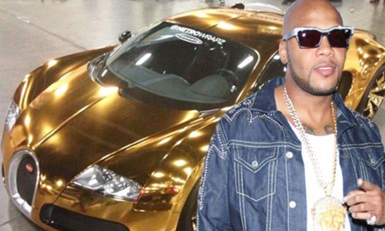 "Flo Rida :: ""Golden"" Bugatti Veyron"