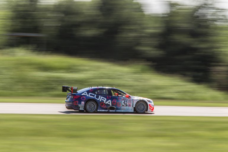 Lapping GingerMan Raceway in an Acura TLX GT Race Car 2