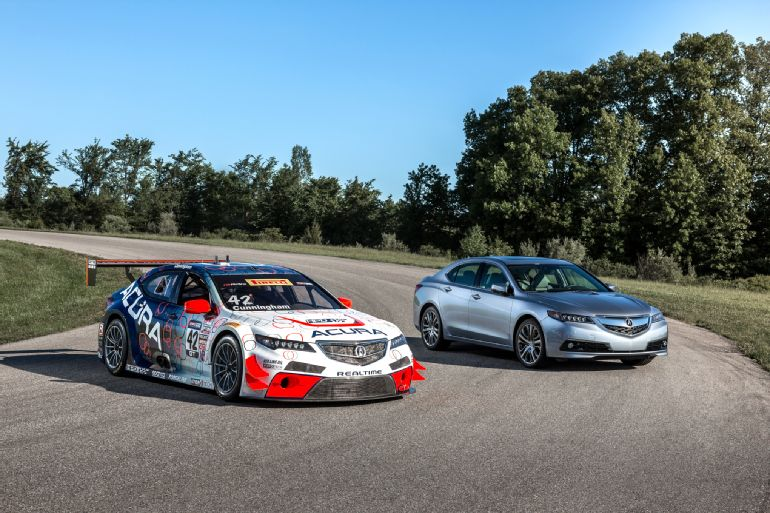 Lapping GingerMan Raceway in an Acura TLX GT Race Car 3