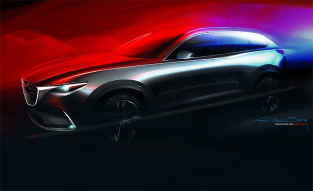 Next-Generation Mazda CX-9 Gets the Sketch Treatment, Bound for L.A.