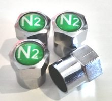 Valve cap, which indicates the tire is filled with nitrogen